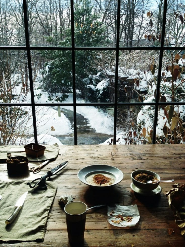 The perfect hygge house and view.